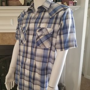 Western Frontier Short Sleeve Snap Button Up Shirt